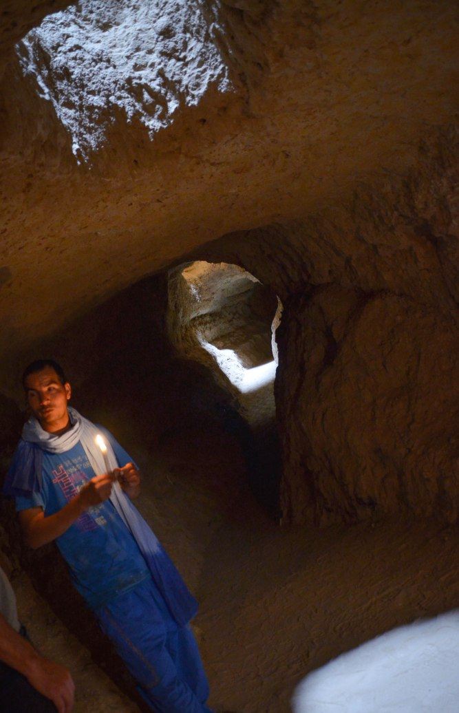A now-dry system of wells dug by the Berbers stretches for kilometers