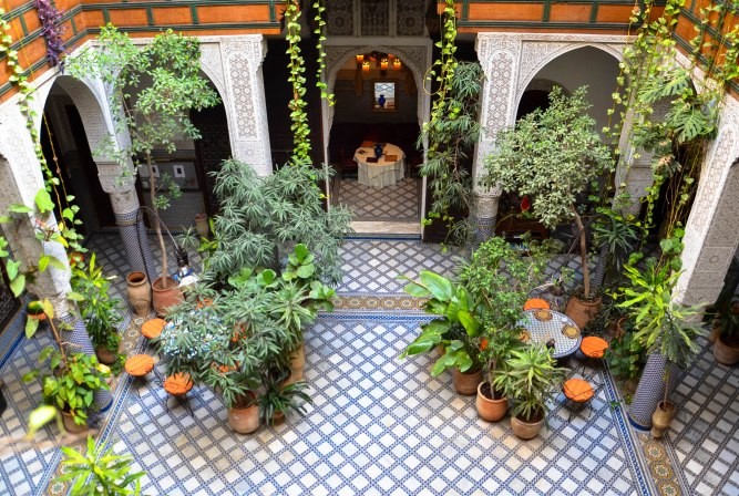 Our stunning riad in Fez (which I barely left)