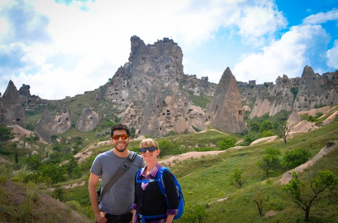 Rudy and I at Uchisar Castle