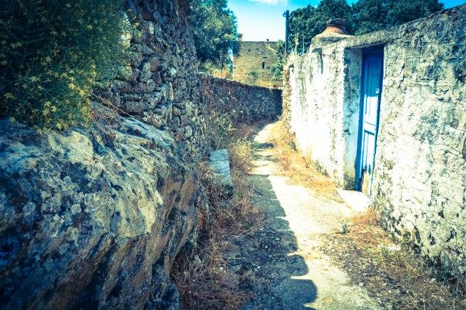 Path in Chalki - Island of Naxos in Greece