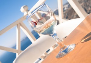 Wine tasting in Santorini Greece