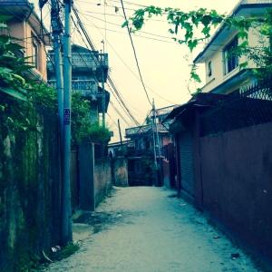 My street in Kathmandu