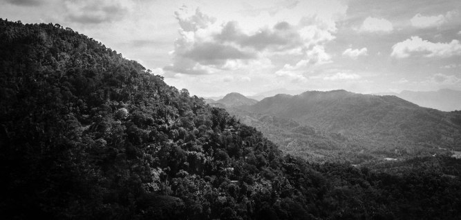 Mountains of Kandy B&W