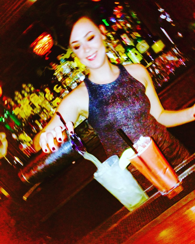 Girl bartender in SF